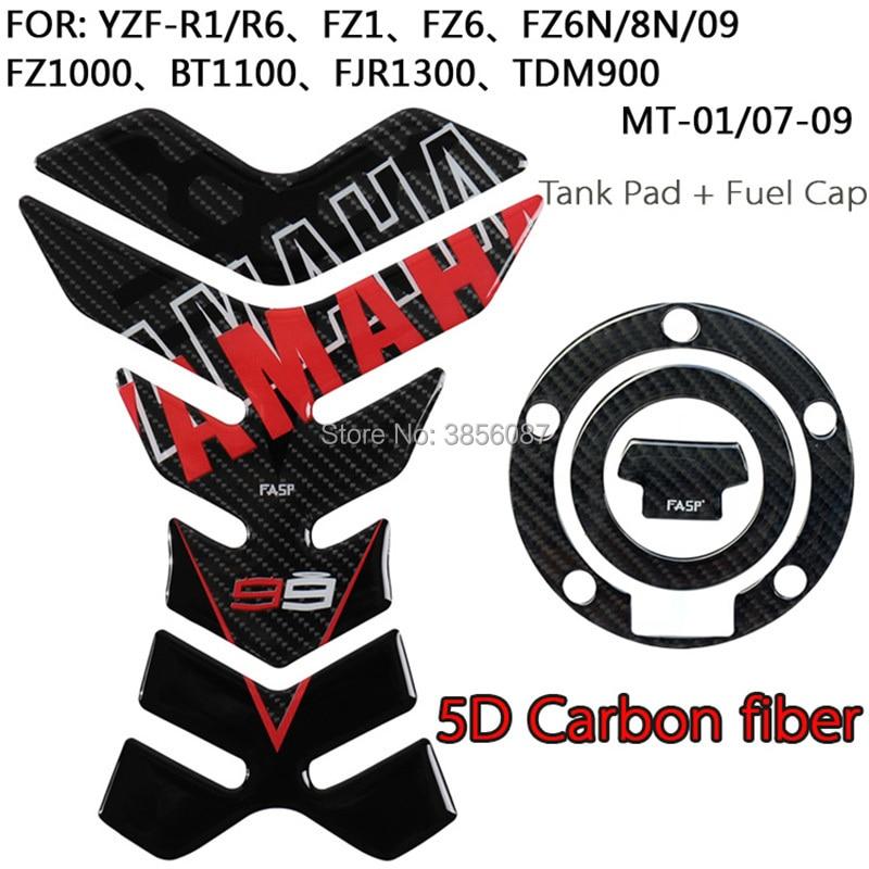 Vereinigt Fasp Real Carbon Fiber Tank Pad Protector Aufkleber Für Yzf-r6 Yzf-r1 Fz1 Fz6 Fz8 Fz09 Fz1000 Bt1100 Fjr1300 Tdm900 Yzf600