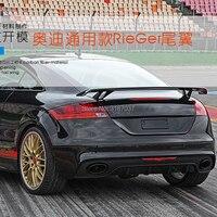Для Audi A3 A4 A5 A6 A7 TT R8 седан спойлер A3 S3 углеродного волокна задний спойлер на крыше крыло багажника губ загрузки покрытие автомобиля для уклад