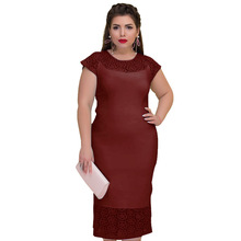 2019 New Europe Hollow Flower Dress Plus Size 6l Long Women Lace Knitting Cotton Casual Solid XL XXL XXXL 3XL 4XL 5XL 6XL xs xxl 3xl 4xl 5xl