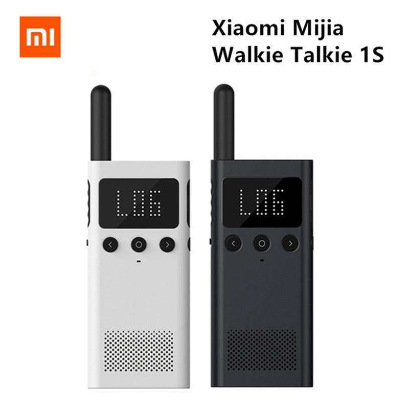 New Xiaomi Mijia Walkie Talkie Interphone 1S FM Radio Phone APP Location Share Fast Team Talk For Smart Control Walkie Talkie1S iman i6 walkie talkie 4 7 inch ip68 rugged phone waterproof android4 4