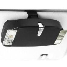 1 шт. многофункциональный чехол для автомобильных солнцезащитных очков с зажимом для авто билетов, держатель для очков, автомобильные аксессуары