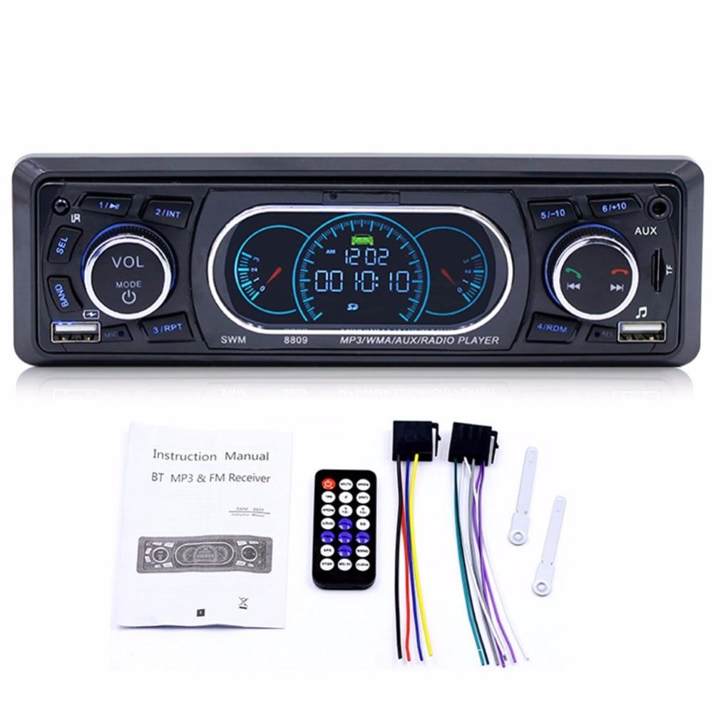 Autoradio 4 ''12 V 4x60 W lecteur MP3 Bluetooth USB TF AUX FM simple 1 Din lecteur stéréo de voiture