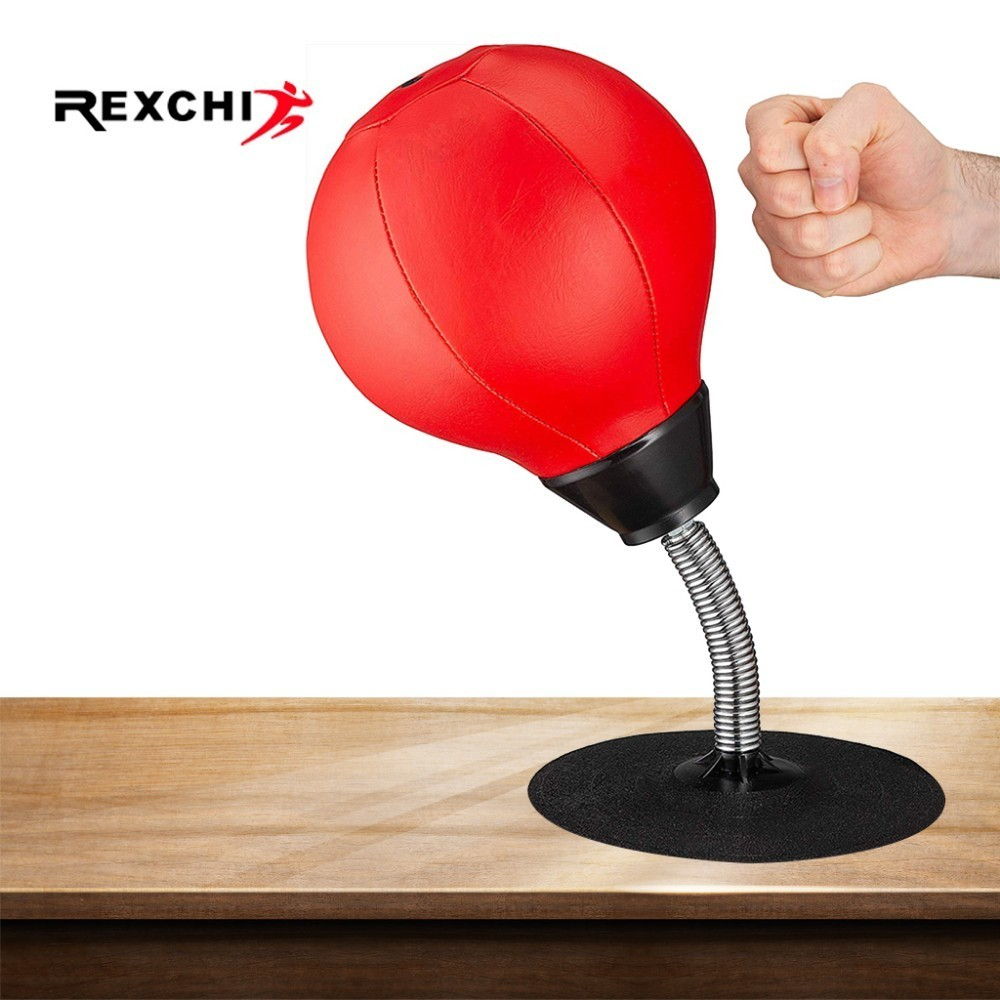 REXCHI Desktop Boxing Ball Stress Relief PU Fighting Speed Reflex Training Punch Ball For Muay Tai MMA Exercise Sports Equipment