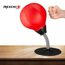 REXCHI Desktop Boxing Ball Stress Relief PU Fighting Speed Reflex Training Punch Ball for Muay Tai MMA Exercise Sports Equipment(China)