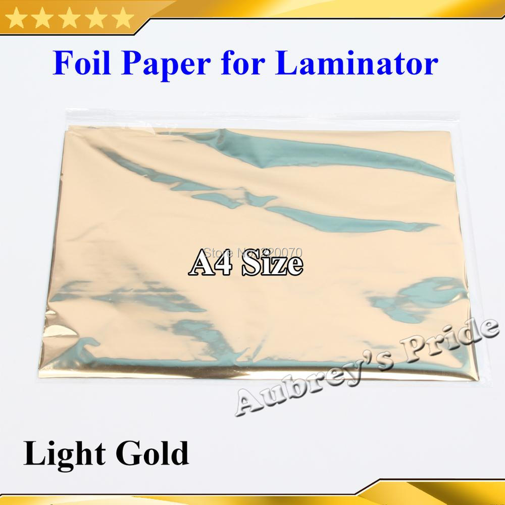 50 x Stamping Foil Paper Laminator Transfer Printer Craft A4 Bussines Cards Tool