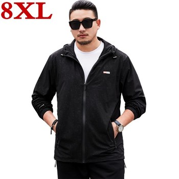plus size 8XL Spring Autumn Mens Casual Camouflage  Hoodie Jacket Men Clothes  Men's Windbreaker Coat Male Outwear Camo Clothing