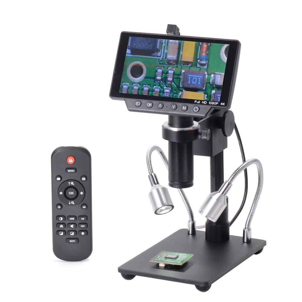 HY-1070 5 pouce Écran 16MP 4 k 1080 p 60FPS USB et WIFI Numérique Industrie Microscope Caméra 150X C- montage