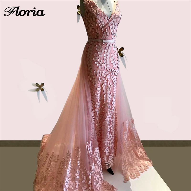 Arabic Aibye Pink Evening Dress Detach Skirt Turkish lace Long Party  Pageant Gowns Abendkleider African Prom Dress For Weddings-in Evening  Dresses from ... 16992d1720b1