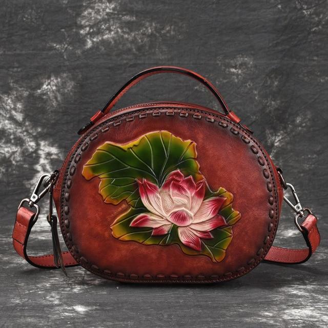 Natural Skin Women Top Handle Brush Color Bag Luxury Handbag Female Cross Body Tote Messenger Shoulder Genuine LeatherBags