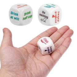 Кубик шт. 1 шт.. креативные домашние кости многоцветные печатвечерние ные партии бусины кубики с буквами-форма Бар кости креативная форма и