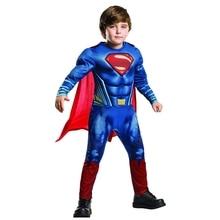 Супермен для мальчиков фильм о супергероях Хэллоуин Косплэй костюм
