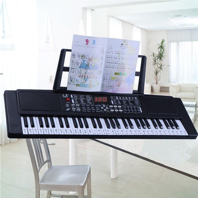 61 clés musique pour enfants orgue électronique maternelle Piano Instrument de musique éducation précoce jouets et cadeaux.