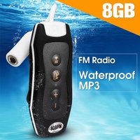 LEORY Waterproof 8GB MP3 Music MP3 Player Mini Portable FM Radio MP3 Player Waterproof Earphone USB Cable For Swimming Diving