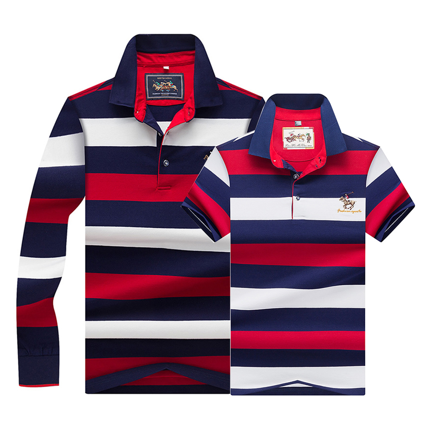 Tace & Shark   Polo   Shirts Classic Striped Men   Polo   Brand High Quality Business   Polo   Shirt Homme 3d Embroidery Summer 2019 Tops