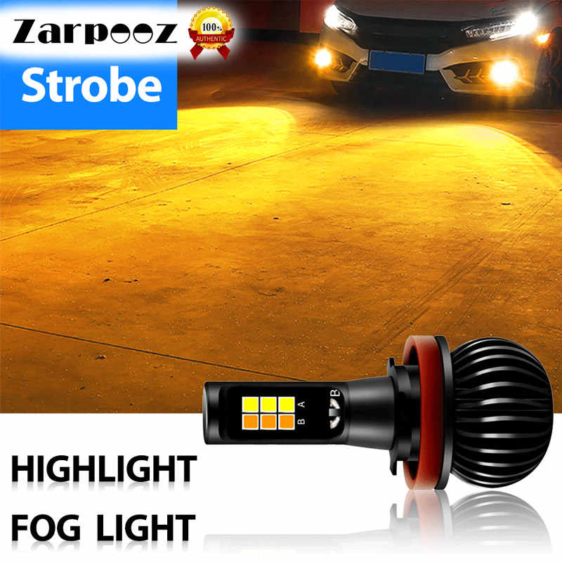 Zarpooz Fog Light 12V-24V 72W H4 Led H7 LED H1 H3 H4 H7 H8 H10 H27 HB4 Auto Lamps 2x LED BulbYellow And White Colors Fog Light