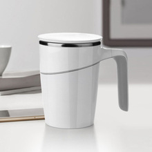 470ml Double Walled Cup Anti-Slip Spill-free Stainless Steel Mug with Suction Base