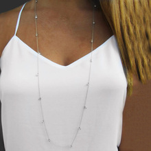 Fashion Jewelry Simple Necklaces Crystal Silver Golden Adjustable Long Tassel Sweater Shirt Colar Feminino
