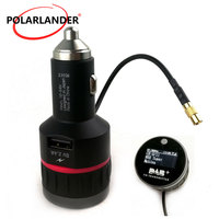 With Converter Plug and Play Knob With 5V 2.4A A USB Part FM Transmitter Car DAB Radio Cigarette Lighter Tuner Receiver