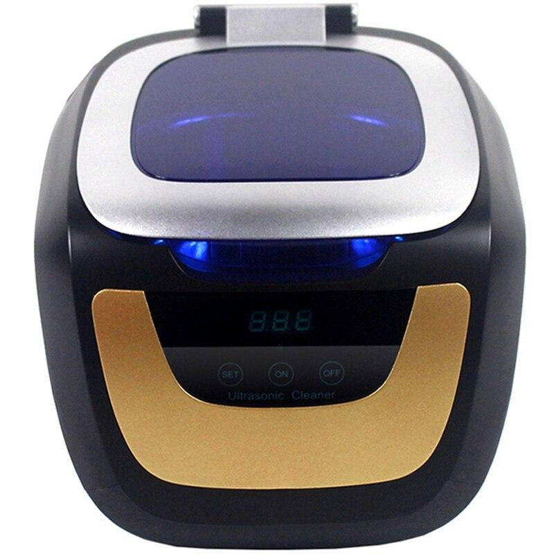 Ménage numérique nettoyeur à ultrasons bain or argent Cd bijoux prothèse montre rasoir tête ultrasons minuterie réservoir 0.75L 50W US/EU