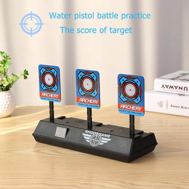 For Nerf Toys Shooting Target Kids Sound Light Shooting Game High Precision Scoring Auto Reset Electric Gun Target Accessories