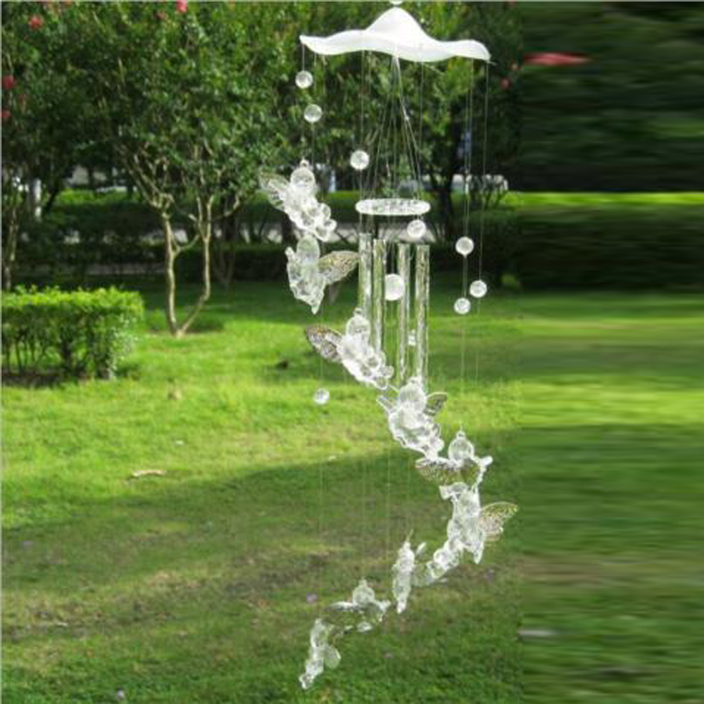 Wind Chime Guardian Angel Metal Aluminum Tubes Bell Creative Hollow Home Garden Wall Hanging Decoration Handmade Gift