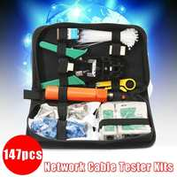 Network Ethernet Cable Tester Telephone LAN Kit Crimper Tool Set RJ45 RJ11 Cat5 Portable Durable Multi function Networking Tools