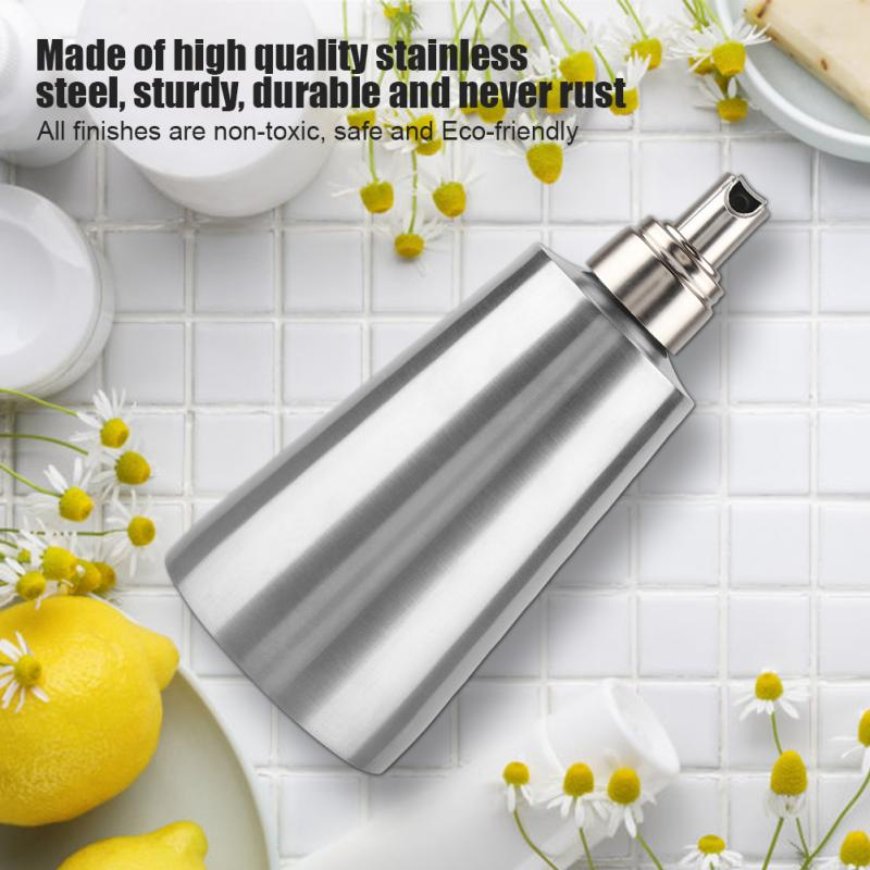 350ml Foam Soap Lotion Dispenser Bathroom Sanitizer Hand Washing Container Stainless Steel Liquid Pump Bottle High Quality