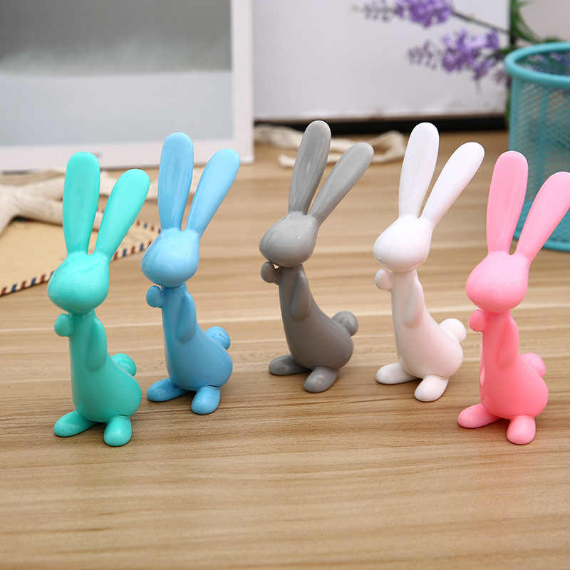 Ellen Brook 1 Pieces Creative Korea Stationery Cute Standing Rabbit Candy Color Ballpoint Pens School Officel Supplies Gift