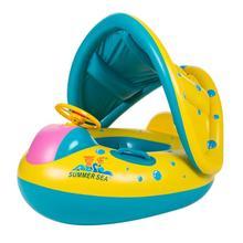 Детский спасательный круг Yacht маленьких надувной бассейн Портативный лето безопасности игрушек Регулируемый Зонт сиденье лодка водные виды спорта лодка