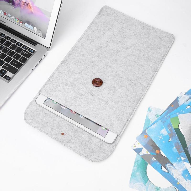 Realistic 11in Portable Felt Bag Filing Products Holder File Bag Laptop Sleeve Notebook File Protective Case Student Writing Pads Cover Modern Techniques