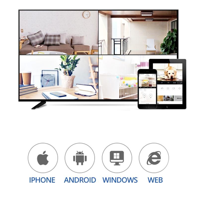 Wheezan CCTV Camera Security System Wifi Video Surveillance Kit 1080P HD Wireless IP Camera Outdoor Two way Audio Alarm Home Cam