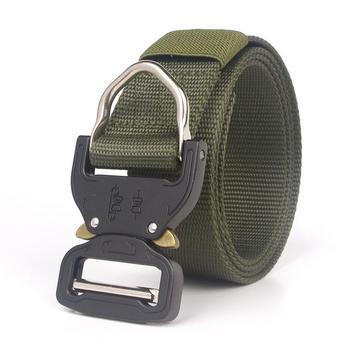 טקטי חגורת לגברים, בסגנון צבאי ניילון אינטרנט חגורה עם מתכווננת כבד החובה שחרור מהיר מתכת אבזם