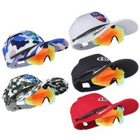 New Polarized 2 in 1 Baseball Cap Glasses Men Women Fishing Goggles Camping Hiking Driving Bicycle Eyewear Sport Cycling Glasses