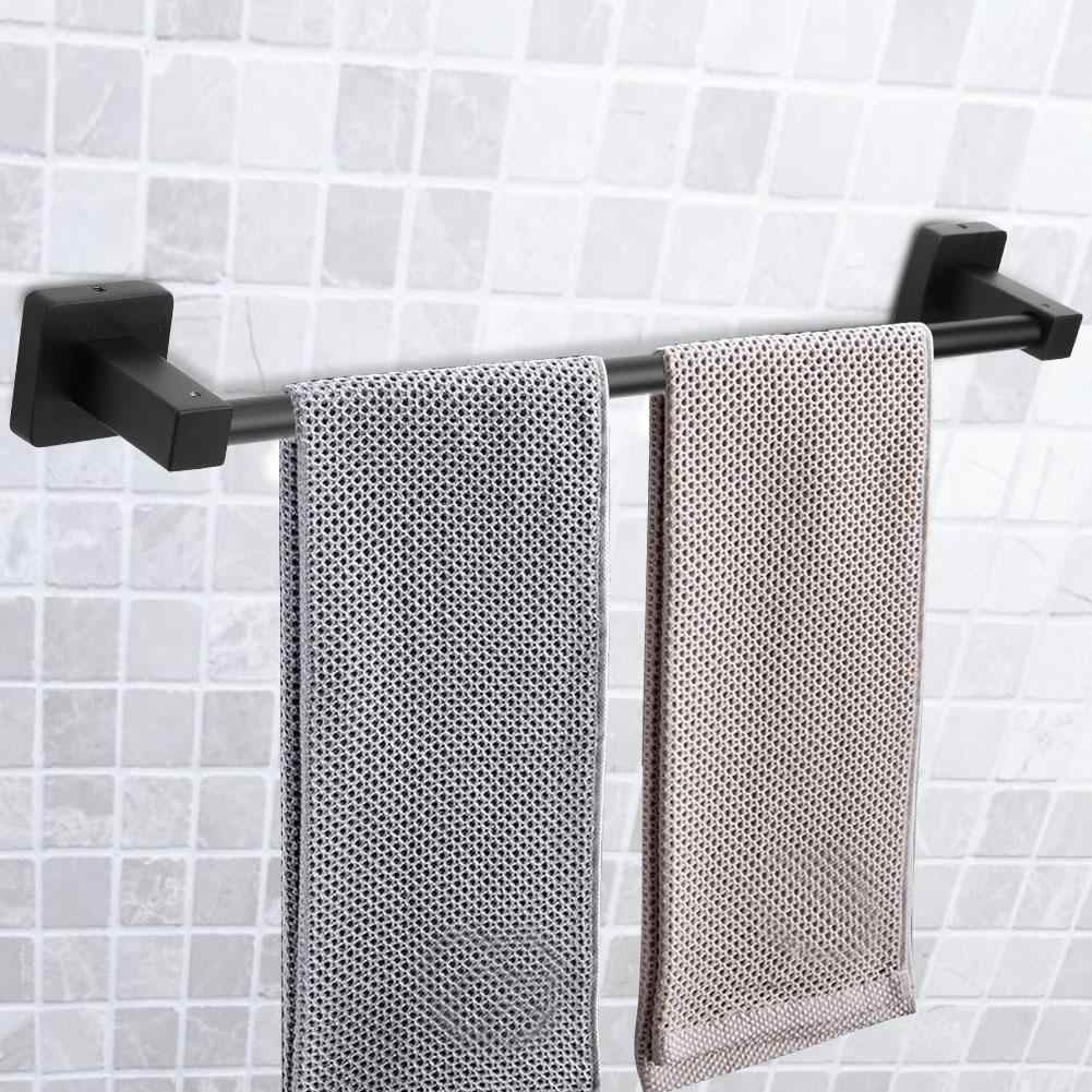 50cm Stainless Steel Wall Mounted Towels Storage Shelf Rack Hanging Rail Bathroom Kitchen  Towel Hanging Holder