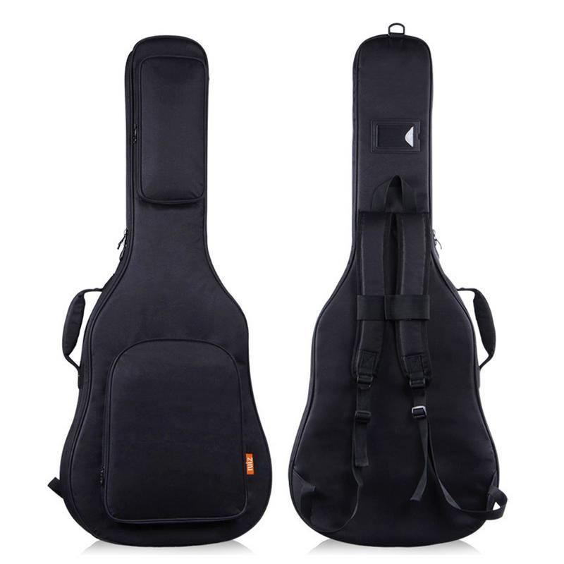 Sac de guitare Folk 39/40/41 pouces étui de transport étanche antichoc épaissir les sacs de guitare acoustique folk sacs à dos Double bandoulière