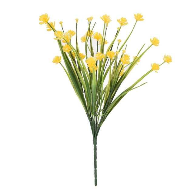 Artificial Flowers Bundle Outdoor Greenery Shrubs Plants Indoor Outside  Home Garden Decor