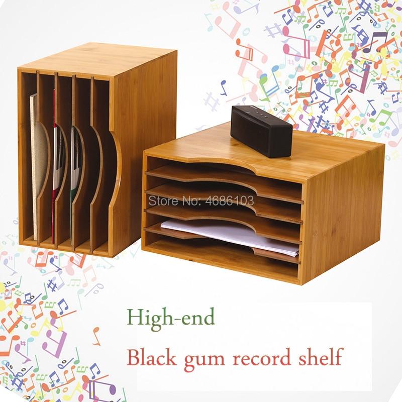 Классическая ностальгия коробка для компакт дисков черная резинка запись полки бамбук полка для cd дисков caja cd storagemake вы дома красивой