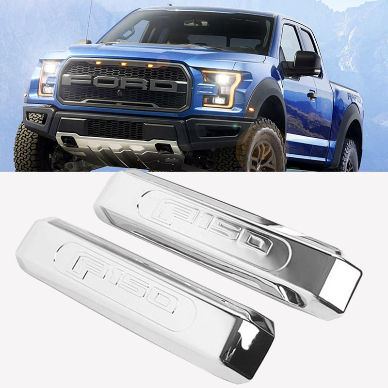 2pcs/set Chrome Inner Front Door Handle Cover Trim for 15-17 Ford <font><b>F150</b></font> <font><b>Accessories</b></font> image