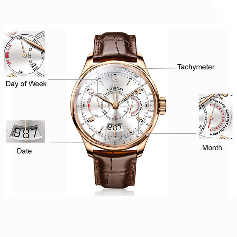 b2fcf8e6d26 New LOBINNI Watch Men Automatic Mechanical Luxury Brand Men Watches Sapphire  Waterproof relogio Japan Miyota Movement L 1 1-in Mechanical Watches from  ...