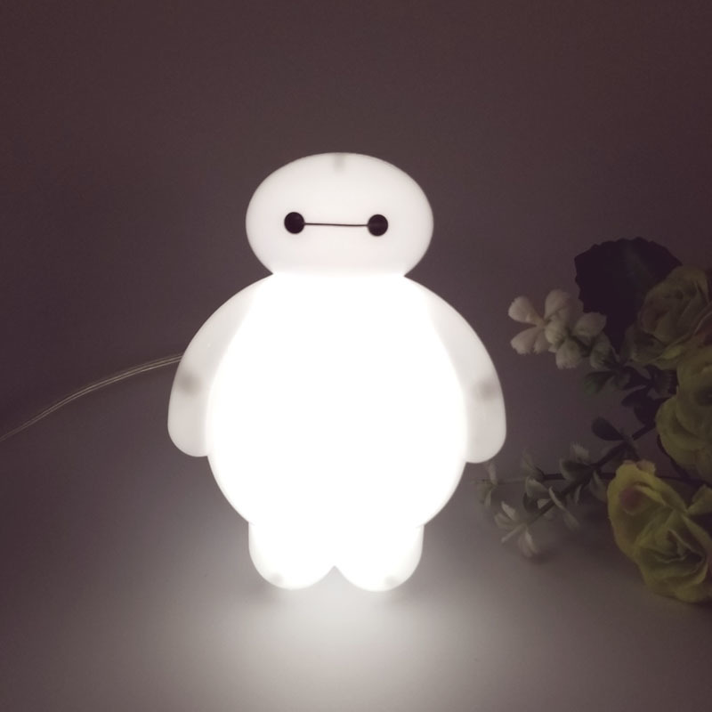 Changing Big Hero 6 Cartoon Baymax Led Night Light Table Desk Lamp Bedroom Decoration Amazing Kids Baby Toy Gift