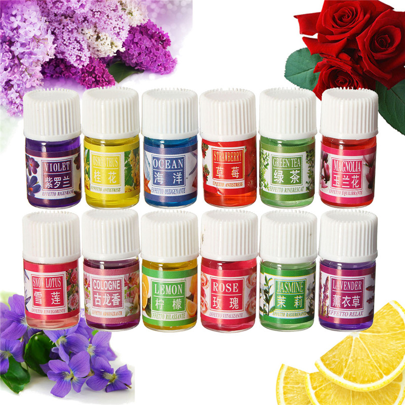13Ml Mini Water-Soluble Oil Essential Oils For Aromatherapy Lavender Oil Humidifier Oil With 12 Kinds Of Fragrance Rose