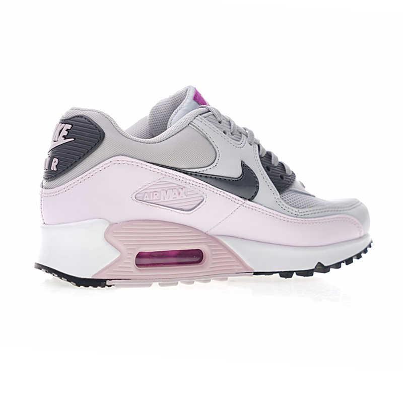 90 Oficial Nike Air Max Tênis de Corrida das Mulheres Resistente À Abrasão e Respirável Absorção de Choque Tênis Ao Ar Livre 616730-112