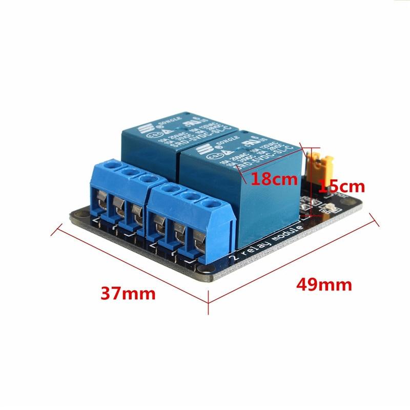 Лидер продаж 5 в 2 канала релейный модуль Управление с помощью ПЛК панель оптопара защиты для Arduino Лучшая цена Новый модули доска