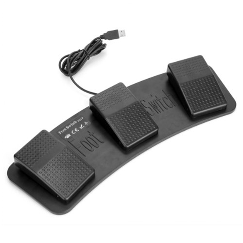 Image 1 - Fs3 P Usb Triple Foot Switch Pedal Control Keyboard Mouse 3 Pedals Simulate Any Key On Keyboard Combination Key Hid Usb Switch-in AC/DC Adapters from Consumer Electronics