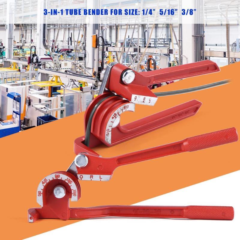 6mm/8mm/10mm Tubing Bender Pipe Bending Tool Heavy Duty Tube Bender Aluminum Alloy Tubing Bender Brake Fuel Line Curving Pliers