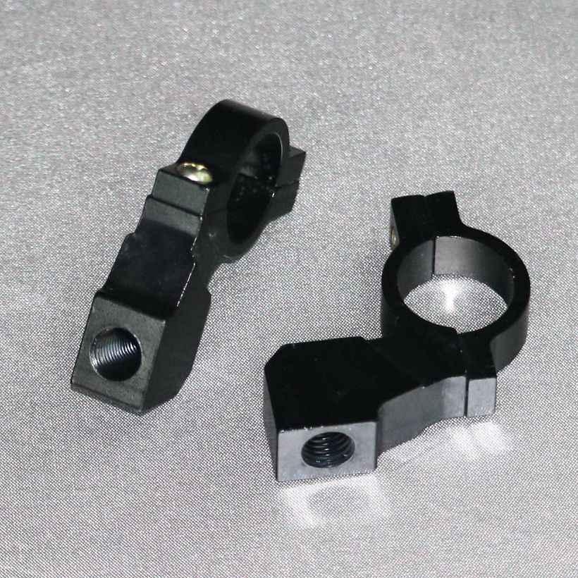 1 Pair Black 10mm 7//8inch Motorcycle Handlebar Mirror Mount Clamp Base Universal