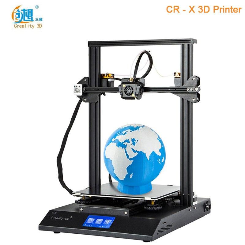Creality3D CR-X быстро собрать 3d принтер DIY комплект высокая точность Max 300x300x400 мм приоритетная линия оригинальный 3d принтер