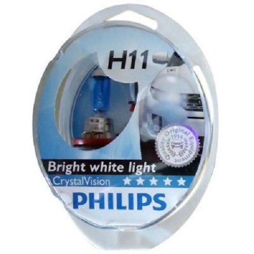 Lamp Philips CRISTAL VISION 4300 K H11, 55, PGJ19-2, 12 V (12362CVSM) cawanerl 2 x 100w h11 car halogen fog light daytime running lamp drl 12v styling for renault espace 4 iv jk0 1 mpv 2003 2012
