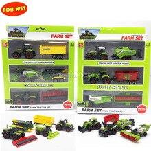 Комплект трактора для всех ферм, большая коллекция игрушек, литая под давлением металлическая модель автомобиля с пластиковой частью, резец для урожая, распылитель, электростанция