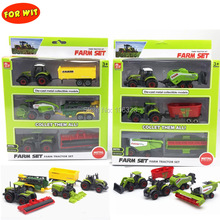 цена на All Farm Tractor Set Great Play Collection Toy,Diecast Metal Vehicle Car Model with Plastic Part,Crop Cutter Sprayer Power Plant